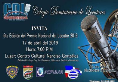 Invitación a la Sexta Edición del Premio Nacional del Locutor, 2019.