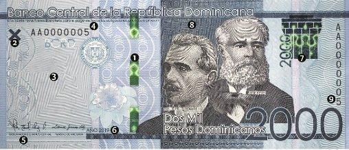Banco Central anuncia a partir de mañana circulará nuevo billete de RD$2,000